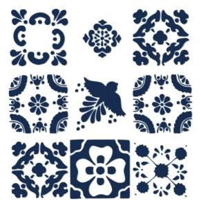 Spanish Tile Stencils